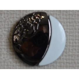 Кнопка декоративная 25 мм №3 блек никель (1000 штук)