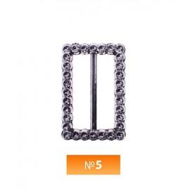 Пряжка пластиовая №5 блек никель 2.5 см (100 штук)