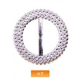 Пряжка пластиовая №7 никель 4 см (100 штук)
