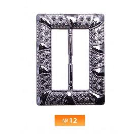 Пряжка пластиовая №12 блек никель 4.5 см (100 штук)