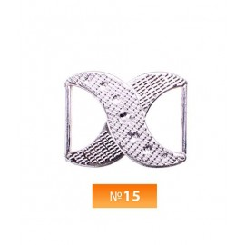 Пряжка пластиовая №15 никель 2 см (100 штук)