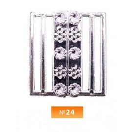 Пряжка пластиовая №24 никель 4.5 см (100 штук)