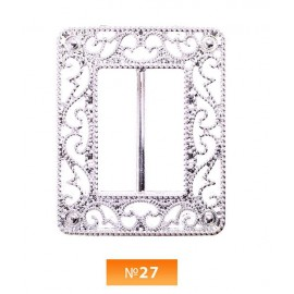 Пряжка пластиовая №27 никель 3 см (100 штук)