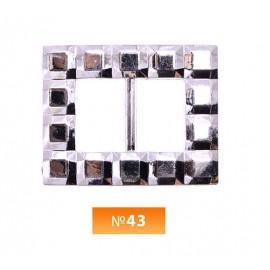 Пряжка пластиовая №43 никель 2 см (100 штук)
