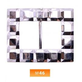 Пряжка пластиовая №46 никель 2.5 см (100 штук)