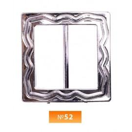 Пряжка пластиовая №52 никель 3.5 см (100 штук)