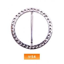 Пряжка пластиовая №54 никель 4 см (100 штук)