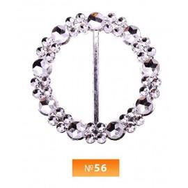 Пряжка пластиовая №56 никель 3.5 см (100 штук)