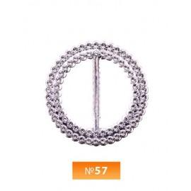Пряжка пластиовая №57 никель 3 см (100 штук)