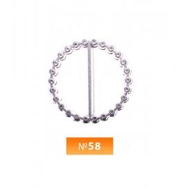 Пряжка пластиовая №58 никель 2.5 см (100 штук)