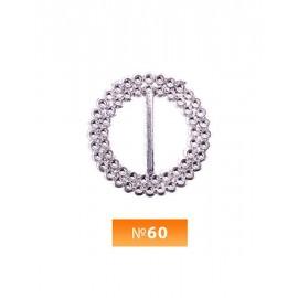 Пряжка пластиовая №60 никель 2 см (100 штук)