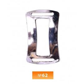 Пряжка пластиовая №62 никель (100 штук)