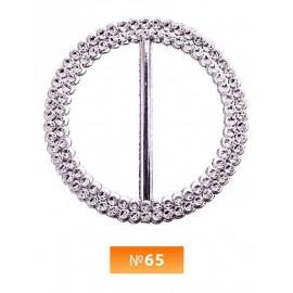 Пряжка пластиовая №65 никель 4.5 см (100 штук)