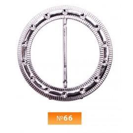 Пряжка пластиовая №66 никель 4.5 см (100 штук)