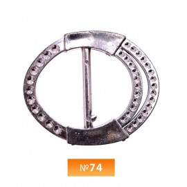Пряжка пластиовая №74 никель 3 см (100 штук)