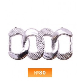 Пряжка пластиовая №80 никель 1 см (100 штук)