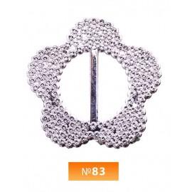 Пряжка пластиовая №83 никель 2.5 см (100 штук)