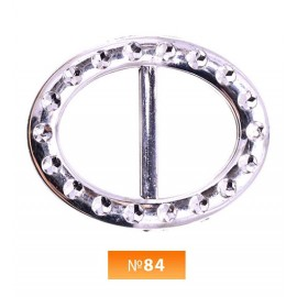 Пряжка пластиовая №84 никель 3 см (100 штук)