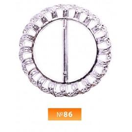 Пряжка пластиовая №86 никель 3.5 см (100 штук)