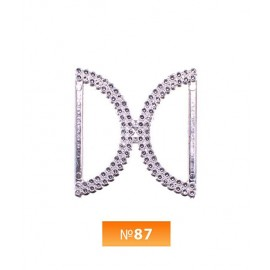 Пряжка пластиовая №87 никель 2.5 см (100 штук)