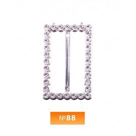 Пряжка пластиовая №88 никель 3.5 см (100 штук)