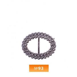 Пряжка пластиовая №93 блек никель 1.5 см (100 штук)