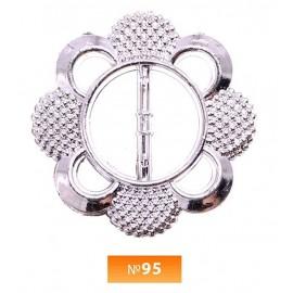 Пряжка пластиовая №95 никель 3 см (100 штук)