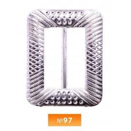 Пряжка пластиовая №97 никель 3.5 см (100 штук)