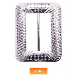 Пряжка пластиовая №98 никель 4 см (100 штук)