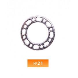 Кольцо пластиковое №21 никель 2 см (250 штук)