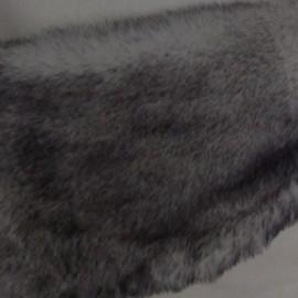 Мех искусственный Кролик серые кончики (метр )