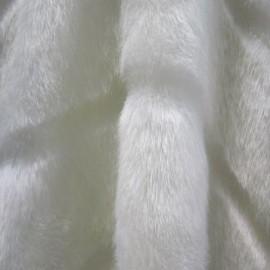 Мех искусственный Норка белая полоса (метр )