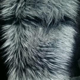 Мех искусственный чернобурка полоса тонкая (метр )