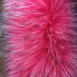Мех искусственный Чернобурка розовый ворс 6см Китай (метр )
