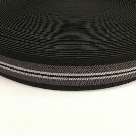 Резинка 35мм серый черный белый (25 метров)