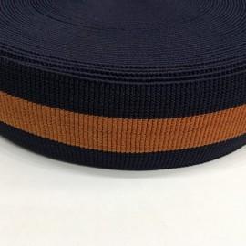 Резинка 60мм синий рыжий плотная для пояса (25 метров)