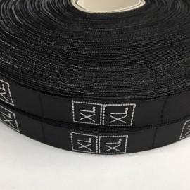 Размерная лента (тканная) черная (1000 штук)