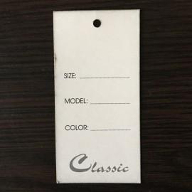 Этикетка картонная 5х10см (1000 штук)