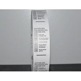 Этикетка состава 25мм (процентовака)  (2000 штук)