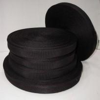 Тесьма ременная 2см черная (100 метров)