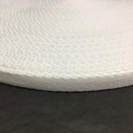Тесьма репсовая тж 10мм белая косичка (50 метров)