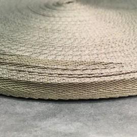 Тесьма репсовая тж 10мм хаки косичка (50 метров)