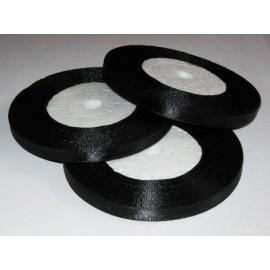 Тесьма атласна 5мм (36ярд) черная (12 штук)