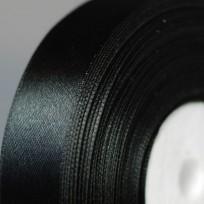 Тесьма атласна 10мм (36ярд) черная (12 штук)