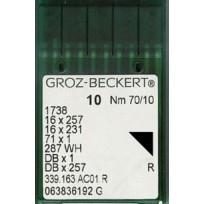 Иглы Groz-Beckert с тонкой колбой DBx1 (100 штук)