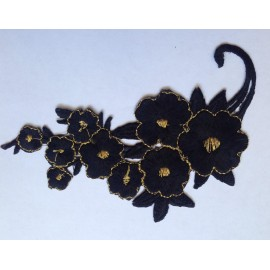 Вышивка апликация клеевая большая цветок №3 (Штука)