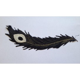 Вышивка апликация клеевая перо павлина (Штука)