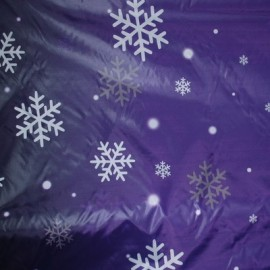 Ткань плащевка снежинка фиолет (метр )