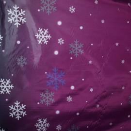Ткань плащевка снежинка темно-розовы (метр )