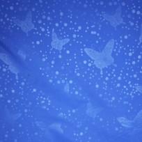 Ткань плащевка бабочка электрик (метр )